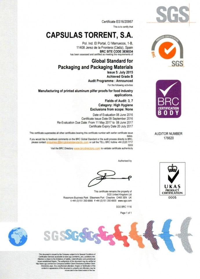 certificación BRC/IOP