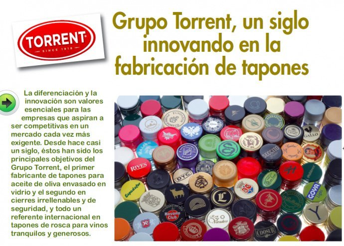 Mercacei: Grupo Torrent, un siglo innovando en la fabricación de tapones | Torrents Closures